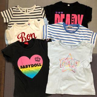 ベビードール(BABYDOLL)のBABYDOLL GAP Tシャツ6枚+1枚おまけ付き 110cm 女の子(Tシャツ/カットソー)
