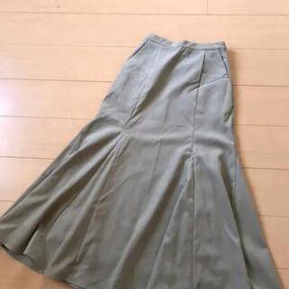 オゾック(OZOC)のロングスカート オゾック ozoc グリーン コーデュロイ マーメイド(ロングスカート)