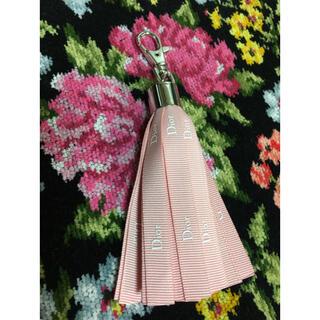クリスチャンディオール(Christian Dior)のディオール クリスチャンディオール チャーム キーホルダー ピンク(キーホルダー)