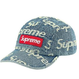 シュプリーム(Supreme)のFrayed Logos Denim Camp Cap(キャップ)