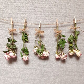 薔薇 バラ ミニスワッグ 花束 ガーランド(ドライフラワー)