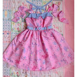 アンジェリックプリティー(Angelic Pretty)のAngelic Pretty Neon Star Dinerジャンパースカート(ひざ丈ワンピース)