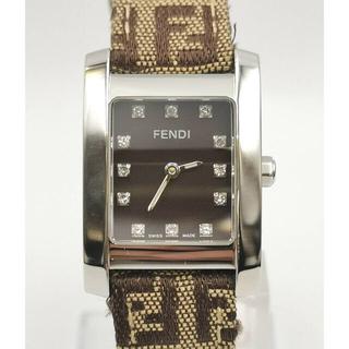 FENDI - FENDI  フェンディ  スクエア 12Pダイヤ 時計