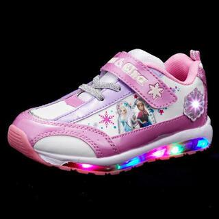 ディズニー(Disney)のアナ雪 アナと雪の女王 光る靴 光る キラキラシューズ 18㎝(スニーカー)