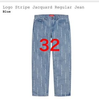シュプリーム(Supreme)のsupreme Logos  Stripe Jacquard Jean 32(デニム/ジーンズ)