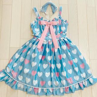 アンジェリックプリティー(Angelic Pretty)のAngelic Pretty Dolly Heart Jsk Kc セット 限定(ひざ丈ワンピース)
