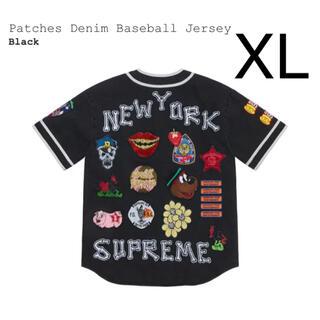 Supreme - 希少XL Supreme patches denim ベースボール jersey
