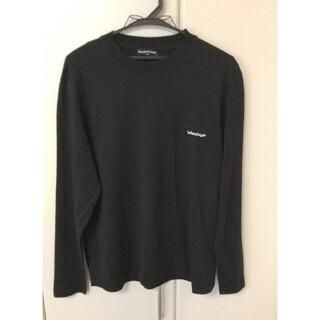 Balenciaga - BALENCIAGA 18SS ミニロゴプリントロングTシャツ