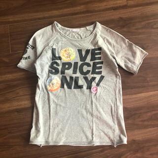 rough - rough キャンディー ワッペン 刺繍 Tシャツ