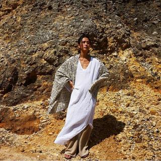 ファビアンルー(Fabiane Roux)のnowos ガーゼ 刺繍 ワンピース(ロングワンピース/マキシワンピース)