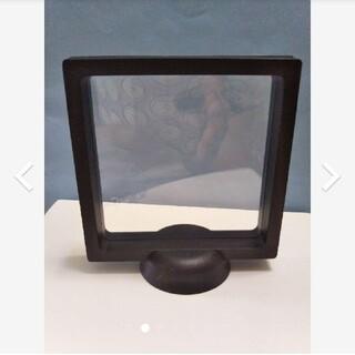 フロートコレクションケース ラップケース ディスプレイケース フォトフレーム 黒(写真額縁)