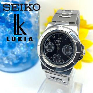 セイコー(SEIKO)のセイコー ルキア 腕時計 ユニセックス デイト 希少品 ブラック 新品電池です☆(腕時計(アナログ))