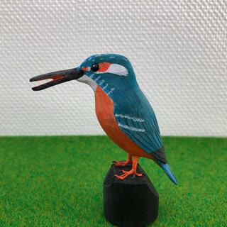 野鳥彫刻 カワセミ オス 作者ituo(彫刻/オブジェ)