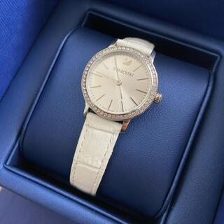 SWAROVSKI - SWAROVSKI腕時計/ホワイトレザー/シルバー(美品)