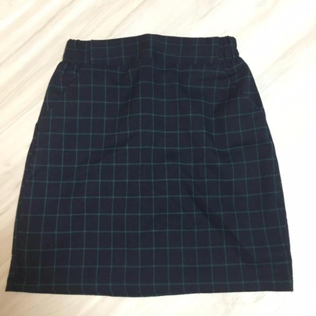 RayCassin(レイカズン)のチェック 台形スカート レディースのスカート(ミニスカート)の商品写真
