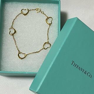 ティファニー(Tiffany & Co.)のtiffany&co ヴィンテージ オープンハート ブレスレット(ブレスレット/バングル)