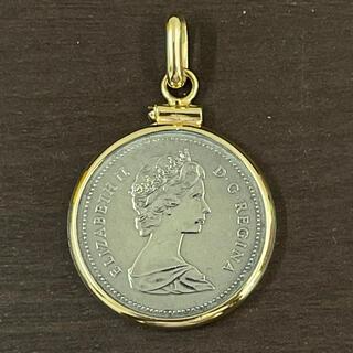 カナダ ビーバーコイン 18金フレームコイントップ(ネックレス)