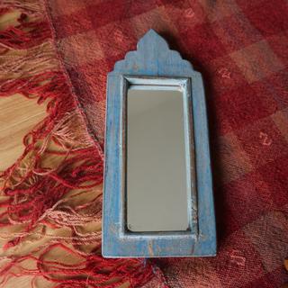 ヴィンテージウォールミラー light blue