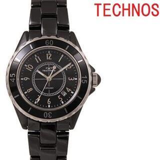 TECHNOS - テクノス T9A61BB メンズ腕時計 セラミック ブラック クオーツ★保証付き