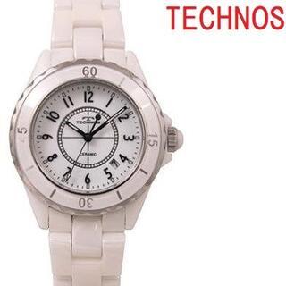 TECHNOS - テクノス T9A61WW メンズ腕時計 セラミック ホワイト クオーツ★保証付き