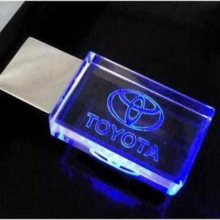 トヨタ(トヨタ)のトヨタ ロゴ 文字 入り USBメモリ 32GB 青(車内アクセサリ)