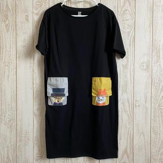グラニフ(Design Tshirts Store graniph)のグラニフ ワンピース ブラック(ひざ丈ワンピース)