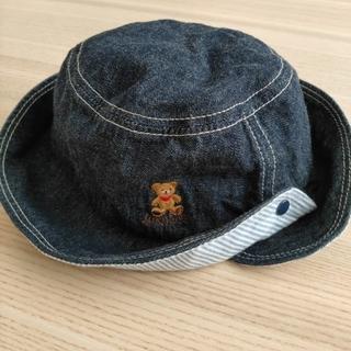 ミキハウス(mikihouse)のミキハウス ☆ デニム 帽子  50(帽子)