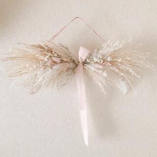 リボンスワッグ beige pink(ドライフラワー)