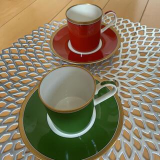 ミキモト(MIKIMOTO)のMIKIMOTO デミタス カップ&ソーサー 2客(食器)