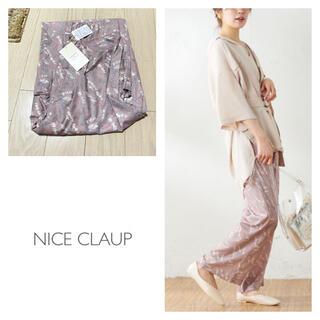 ナイスクラップ(NICE CLAUP)の新品 ナイスクラップ  線画ボタニカル柄パンツ(カジュアルパンツ)