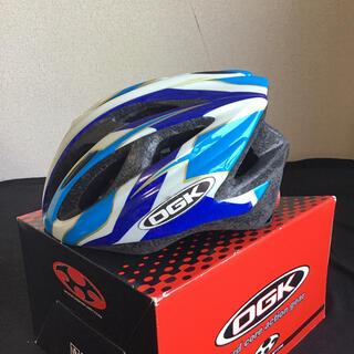 ロードバイク ヘルメット OGK KABUTO ブルー ホワイト M/L