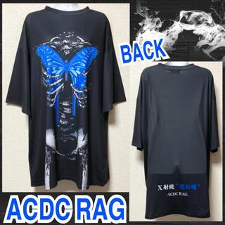 エーシーディーシーラグ(ACDC RAG)の【新品/ACDC RAG】垂れバタフライスケルトンプリントTワンピ(ミニワンピース)