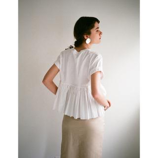 ステュディオス(STUDIOUS)の【CLANE】BACK FRILL TEE(Tシャツ(半袖/袖なし))