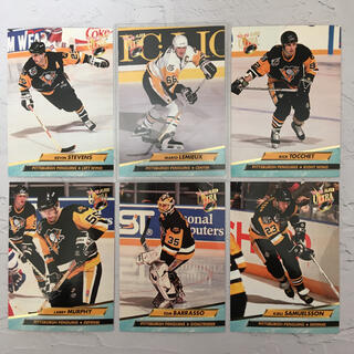 NHL『90年代 ペンギンズ 名ライン カード 6枚 セット』レア品【中古】(スポーツ選手)