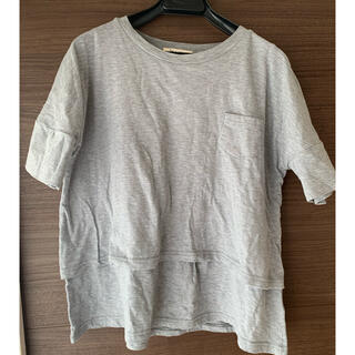 授乳口付きTシャツ(マタニティトップス)