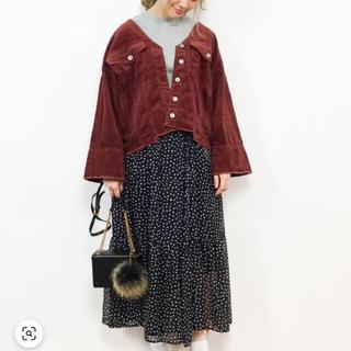 ダブルクローゼット(w closet)のダブルクローゼット♡コーデュロイジャケットTシャツセット(Gジャン/デニムジャケット)