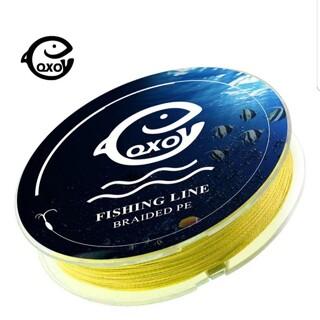 1号☆イエローカラー!高品質、飛距離、高強度!四つ編み式 PEライン 100(釣り糸/ライン)