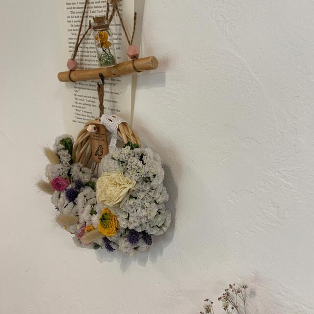 大人可愛い流木ガーランド✺ ドライフラワー リース 流木 母の日 ハンドメイドのフラワー/ガーデン(ドライフラワー)の商品写真