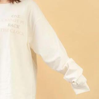 フーズフーチコ(who's who Chico)のロゴプリントT(Tシャツ(長袖/七分))