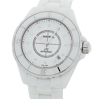 CHANEL - シャネル J12 38mm 12Pダイヤ H2423 ホワイトセラミック 時計