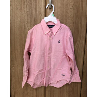 ポロラルフローレン(POLO RALPH LAUREN)の35女の子 110程度本物ラルフローレンの長袖シャツ ピンク 美品(ブラウス)