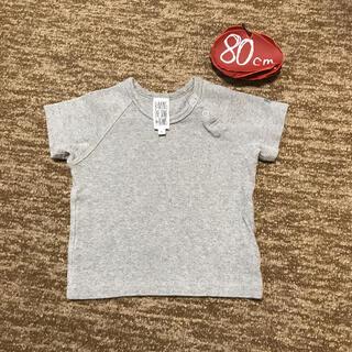 コドモビームス(こども ビームス)のこどもビームス 80㎝ グレーTシャツ 綿99%(Tシャツ)