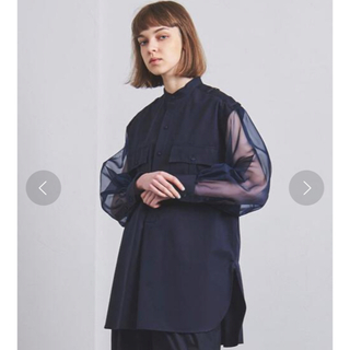 HYKE - GROSGRAIN SHIRT hyke ハイク ロングシャツ
