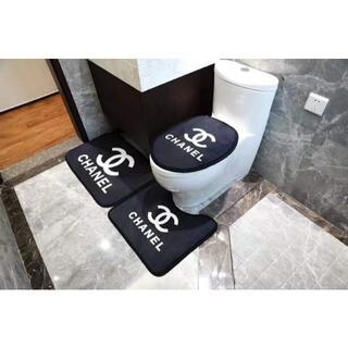 ラグ カーペット ラグマット 3セット トイレ用絨毯(トイレマット)