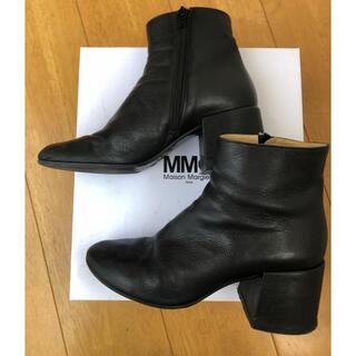 エムエムシックス(MM6)のMM6 チャンキーヒールアンクルブーツ(ブーツ)