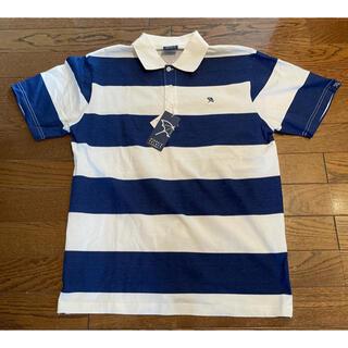 アーノルドパーマー(Arnold Palmer)のアーノルドパーマ ポロシャツ メンズ Lサイズ ネイビー/ホワイト ボーダー(ウエア)