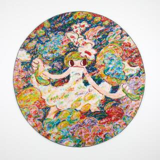 【希少品】魔法の手 ロッカクアヤコ アートラグ(ラグ)