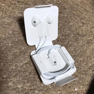 アップル(Apple)のiPhoneライトニング イヤホン 純正 2個(ストラップ/イヤホンジャック)