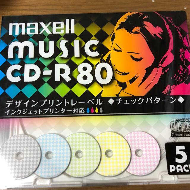 maxell(マクセル)のmusic CD-R 80 5枚パック maxell エンタメ/ホビーのCD(その他)の商品写真