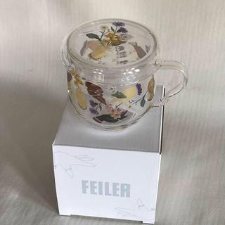FEILER - フェイラー ノベルティ アミカルモン 茶漉し付きガラスカップ 2個